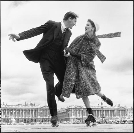 Shooting for Dior, Paris, 1956